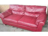 Oxford red two seater sofa