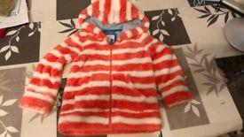 Mini Boden fluffy coat for girl 4-5 y