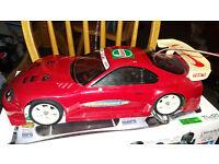 Tamiya rc toyota supra 4x4 drift car free controller