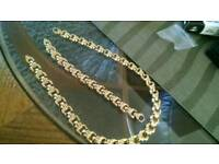 9ct Gold Necklet & Bracelet Set.