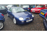 MGF 1.8. 2000. only 69000 miles. excellent. no mot