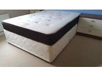 King size bed with 4 drawers + Balmoral Orthocare memory spring mattress