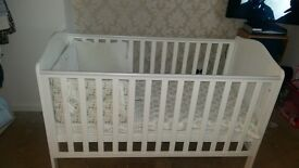 mothercare cot bed and mattress and bedding set