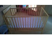 Wooden Baby's Cot in Excellent Condition