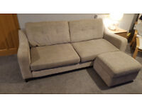 DFS 4 seater sofa with footstool