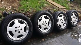 15 inch AMG MERCEDES ALLOYS WITH GOOD TYRES 5 STUD 5 × 112