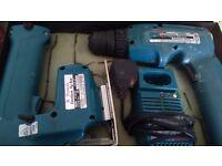 Makita cordless drill and jig saw