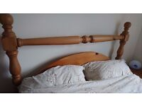 Antique Pine Double Bed