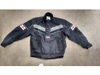 Mens motorbike over jacket