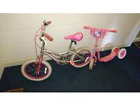 Grils Bike plus Barbie Scooter