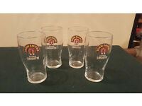4 x John Smith's Extra Smooth Bitter Beer Pint Glass Pub Home Bar