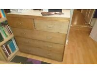 Chest of 5 drawers - Solid Wood Old Style