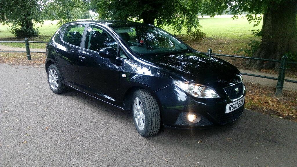 SEAT IBIZA SE 2010 BLACK, AUTOMATIC, 10 MONTH MOT, AIR CON, CRUISE CONTROL