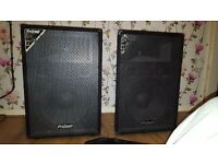 Pro sound speakers and amp