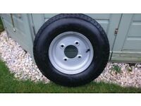"Trailer Wheel + Tyre 5.00-10 5.5"" PCD ET: 0 BORE: 95mm NEW"