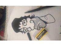 Original independent Artwork, Cartoons and illustration