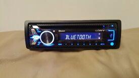 CAR HEAD UNIT SONY N4000BT MP3 CD PLAYER WITH BLUETOOTH USB AUX 4x 55 AMPLIFIER AMP STEREO RADIO BT