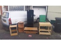 FREE FURNITURE! desk, tv stand, colapsable wardrobe, corner unit, wheelchair. OUT ON DRIVE TODAY
