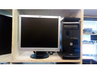 """HP PC with fast SSD drive, 19"""" HP screen, ideal for school homework"""