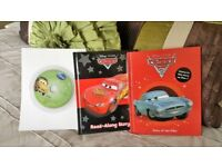 DISNEY PIXAR CARS & CARS 2 LISTEN AND READ ALONG BOOKS WITH DISC