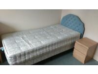 Single bed with mattress and headboard, v.good condition!