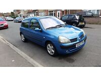 2003 RENAULT CLIO DYNAMIQUE 16V 1.2 PETROL 3 DOOR BLUE 1 PREVIOUS OWNER 88,000 MILES 12 MONTHS MOT