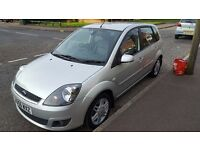 Ford Fiesta 1.4L Ghia. Long MOT 11 months. Full leather seats. Low mileage for age.