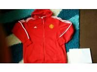 Mens XXL adidas machester united jacket/hoodie ! Brand new !!