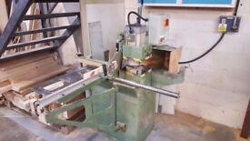 Sedgwick TE 3phase Tenoner Used c/w standard 50mm steel & 60mm alloy limiter blocks & scribe cutters