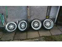 """19"""" deep dish alloys. 5 x 120 staggered"""