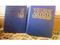 Almost complete set of The Great Artists magazines most in binders