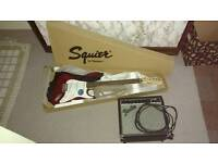 New Squier by Fender strat with 15W amp