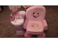 Fisher Price Laugh n Learn Pink Chair- great condition