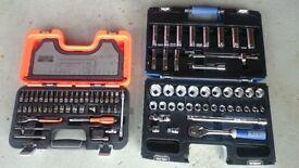 Bahco s460 and britool 1/2 socket set