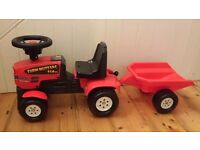 Baby Farm Child's Mustang Tractor and Trailer
