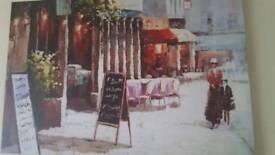 Large vintage looking canvas