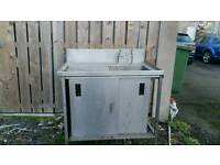 Large catering sink very deep sink with under counter storage