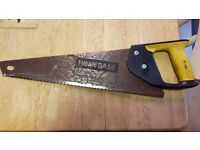 SMALL 'HOMEBASE' BRAND TOOLBOX HAND SAW WITH 36 CM BLADE