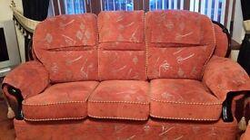 1 or 3 Like New Orange Sofa