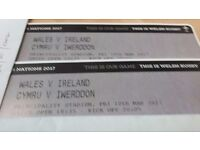 Wales v Ireland rugby tickets seated together