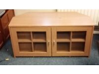 Wooden corner TV stand and cabinet