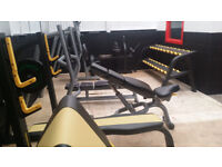 Job LOT NEW Commercial gym Fitness equipment benches dumbbells racks Heavy Duty OVER £3500