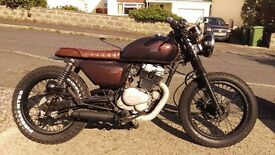 Honda cd250 brat style custom build