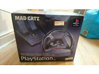 PlayStation steering wheel and pedals