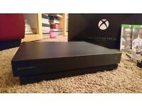 Xbox One X Project Scorpio Edition (Perfect Condition) with FiFa 18, COD WW2 and PUBG.
