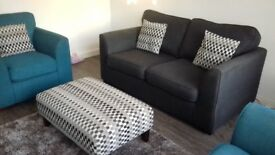 Sofa 2 chaors and foot stool 2 yrs old still good condition £250