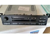 BMW E39 Business RDS Radio Head Unit And Cassette Deck