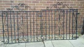 Pair of heavy steel gates