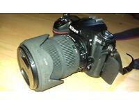 D300 Nikon+Sigma 18-200mm +Extras