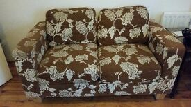 SOFA- DOUBLE SEAT FLORAL SOFA £25 ONLY